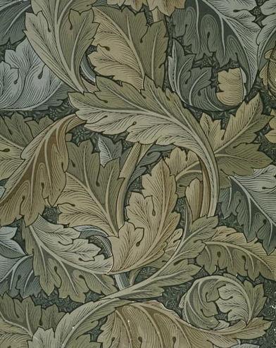 Wallpaper with acanthus, William Morris, 1875.